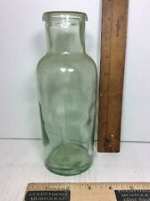 """ANTIQUE VTG B&FB CO 2448 BOTTLE AQUA W/ LARGE BUBBLES AND A 1.5"""" OPENING 8"""" TALL"""