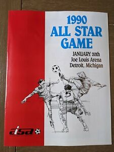 1990 American Indoor Soccer Association All-Star Game Program Detroit
