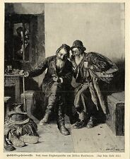 ISIDOR Kaufmann Vienne (Secrets commerciaux) Artiste Graphique Gravure sur bois de 1900