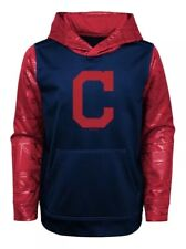 New NWT S/S Cleveland Indians Hoodie Sweatshirt Youth Boys Size M Medium 8/10