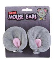 Clip Gris sur oreilles de souris Animal Rongeur Déguisement Accessoire