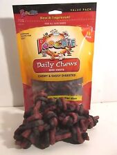 5 Bags Poochie Dog Treats Beef & Bacon  Knot Chews 14 Knots x 5 bags = 70 Treats