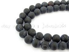 Natural Matte Frosted Gemstone Round Loose Spacer Beads 15''  Strand 8mm 10mm