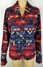 Ralph Lauren Womens L Southwestern Aztex Indian Blanket Shawl Cardigan Sweater