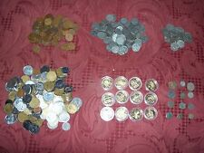 30 coin lot. Roman buffalo nickels steel cents  foreign gold plated  quarter