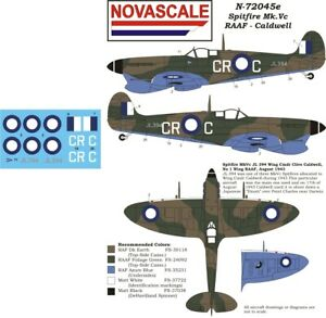 RAAF Decals Spitfire Mk.Vc Mini-Set 1/72 Scale N72045e
