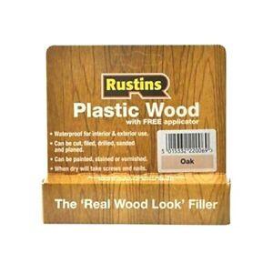 Rustins Plastic Wood Oak Filler Repair Fills Fix Cracks Gaps Holes Tube New 20g