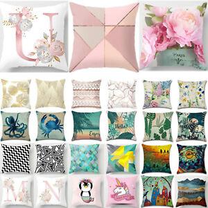 Home Sofa Pillow Case Floral Waist Car Throw Cushion Cover Decorate Pillowcase