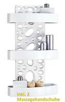 Duschregal Badregal Duschablage 3 Fächer weiß für Duschgel Pflegedusche Shampoo