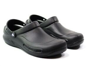 NWT Men's Crocs Black At Work Bistro Slip-Resistant Men's Size 12 (US)