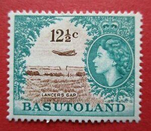 SG76 Basutoland Elizabeth II 1961 12.5c Lancers Gap Commemorative MM