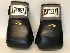 Gently Used Everlast Pro Style Black Training Boxing Fighting Gloves 14 Oz