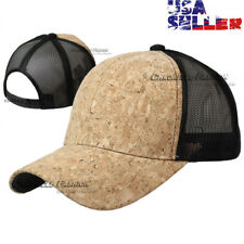 Baseball Cap Trucker Hat Mesh Snapback Adjustable Cork Visor Plain Blank Hats