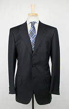 New. BRIONI Palatino 21 Black Wool 3 Roll 2 Button Suit Size 52/42 L $7595