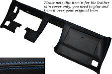 BLUE Stitch DASH dashboard cuoio pelle copertura adatta Corvette C3 1977-1982
