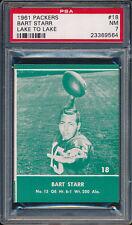 1961 Lake to Lake Packers #18 Bart Starr PSA 7 (FB01)