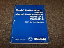 2007 Mazda Mazdaspeed6 Sedan Service Highlights Shop Repair Manual 2.3L