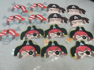 NEW SET OF 15 FOAM PIRATE MASKS - BIRTHDAY PARTY FAVORS
