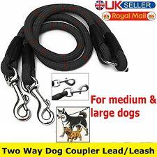 2 Way Double Dog Coupler Lead Twin Walk Splitter Pet Puppy Couple Walking Leash