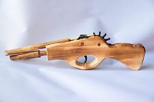 "12"" HANDCRAFTED COWBOY  WOODEN RUBBER BAND SHOOTING TOY GUN RILE STOCKING"