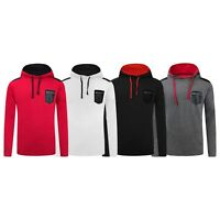 NEW Men Hooded Sweater Long Sleeve Chest Pocket Zipper Hoody Pullover Size S-2XL