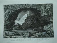 1845 Zuccagni-Orlandini Veduta della Grotta di Nettuno sotto Cascata di Tivoli
