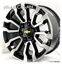 18 Inch Gloss Black Machine 2021 Gmc At4 Oe Replica Wheels Chevy Tahoe Ltz 6x55