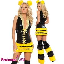 Ladies Queen Of Bee Luxury Outfit Costume Fancy Dress One Size SZ 6 8 10