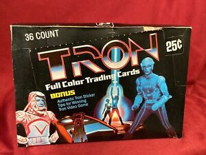 1982 TRON movie vintage Donruss Trading Cards Box 36 Sealed Wax Packs