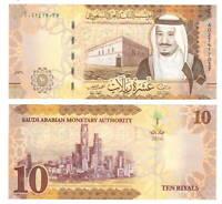 SAUDI ARABIA 10 Riyals (2016) P-39a A Prefix UNC Banknotes Paper Money
