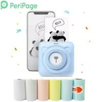 PeriPage Portable Thermal Bluetooth Printer Mini Photo Pictures Printer For Mobi