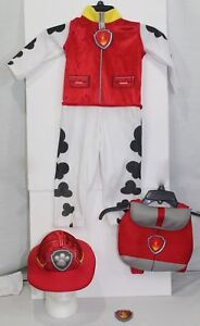 Nick Jr Paw Patrol Marshall Fire Fighter Dog Red Costume Youth Boys Toddler Size