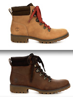 New Timberland Ellendale Hiker Womens Boots Leather Wheat or Brown sizes 6 - 11