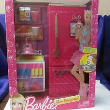 Barbie Glam Refrigerator + pretend food for the fridge NEW
