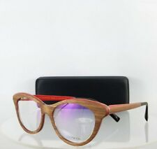 3eca82b0c444 Brand New Authentic Gold and Wood EPI 03 51mm Brown Red Frame