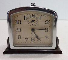 JAZ réveil mécanique JANIC 1935 pendulette clock fonctionne