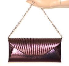 POCHETTE VIOLA donna borsa elegante borsello cerimonia borsetta da sera sac A36