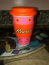 Galerie Hershey Reese/'s Travel Mug with Candy 1.0oz Gift Ceramic Silicone NEW