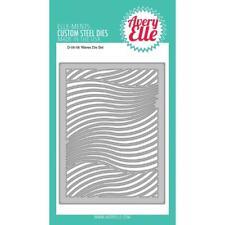 Avery Elle Waves Background Pattern Elle-ments Die D0606