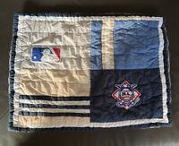 Pottery Barn Pb Teen ML Baseball Sports Blue Decorative Pillow Sham Standard