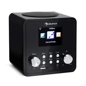 Internetradio Digital Wecker Fernbedienung USB DNLA UPnP App-Control Schwarz