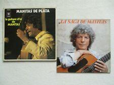 """LOT 2 LP 33T MANITAS DE PLATA """"La saga - La guitare d'or"""" /"""