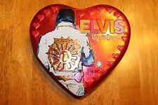 Heart Shaped Elvis Presley Back Russell Stover Tin Collectible 2008 EMPTY