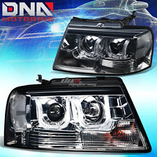 FOR 04-08 F150/MARK LT 3D U-HALO PROJECTOR SMOKED/CLEAR HEADLIGHT+LED DRL