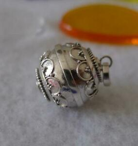 Sterling Silver Mexican Bola Harmony Ball Pendant SilverandSoul Jewellery 14mm