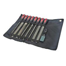 9 PIECE FILE AND RASP SET FOR WOOD AND METAL IN QUALITY WALLET + FILE CLEANER