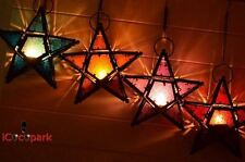 iCocopark Candle Holder Iron Lantern Moroccan style Star Glass Home Decoration