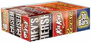 HERSHEY'S Chocolate Candy Bar  30 Count Variety HERSHEY'S Milk Chocolate and Al