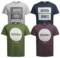 Jack & Jones Core Bak T-shirt Mens Crew Neck Logo Print Casual Cotton Tee Top