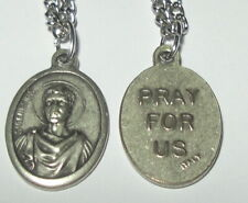 """St Genesius Holy Medal on 24"""" Chain - Actors Lawyers Comedians Dancers Musicians"""